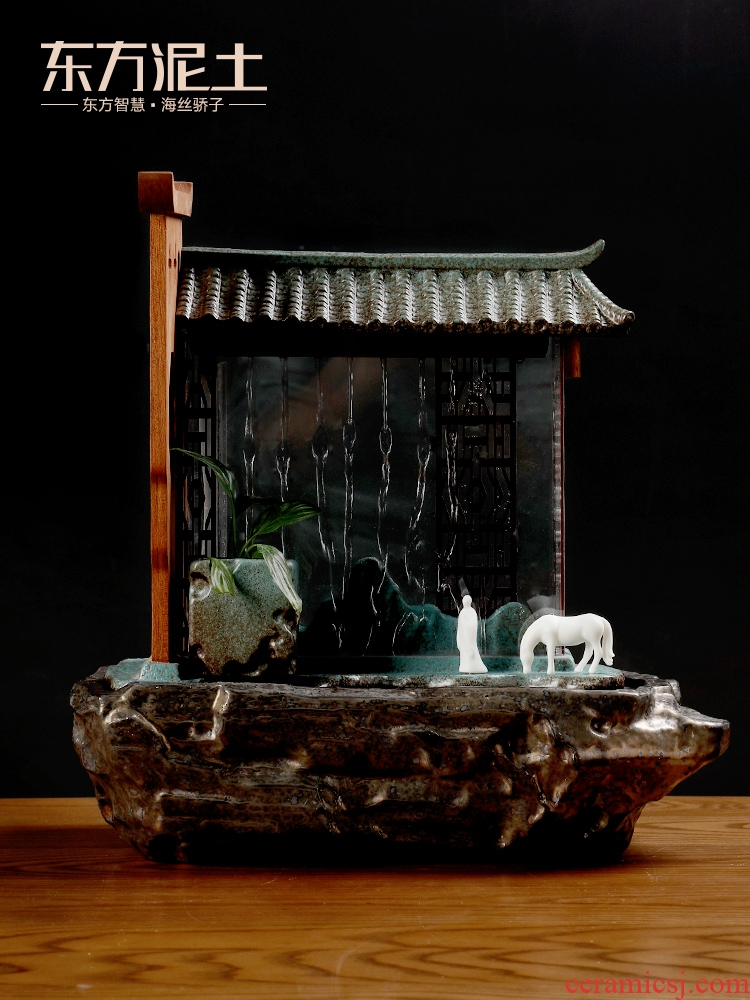 East of new Chinese style ceramic soil water place of the sitting room TV ark, wine decorative water/time of your life