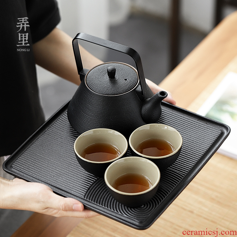 Get in | dry landscape of a complete set of tea tray was Japanese zen contracted household utensils set ceramic cups a pot of two cups