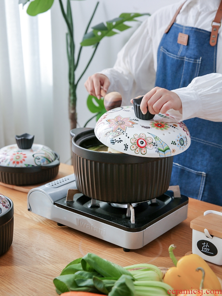 Sichuan in Japanese painting ceramic casserole soup household gas gas buner for large capacity extra large saucepan