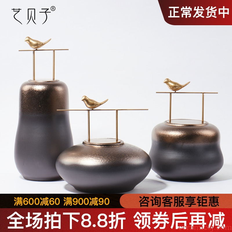 New Chinese style ceramic POTS furnishing articles example room hotel club villa home sitting room TV ark adornment ornament