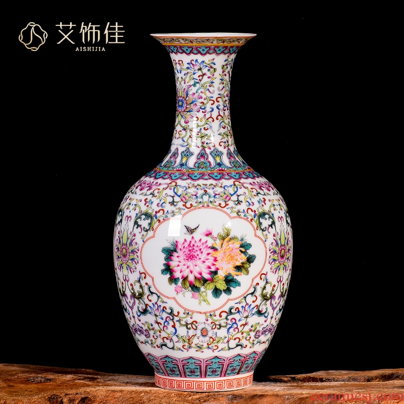 Jingdezhen ceramics, vases, flower arranging dried flowers porch TV ark, sitting room of Chinese style household adornment handicraft furnishing articles
