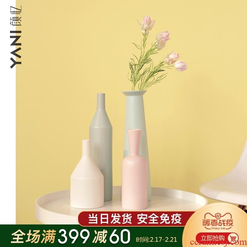 YANI yan yi Nordic ceramic vases, tea table, the table, place art morandi vases, flower art
