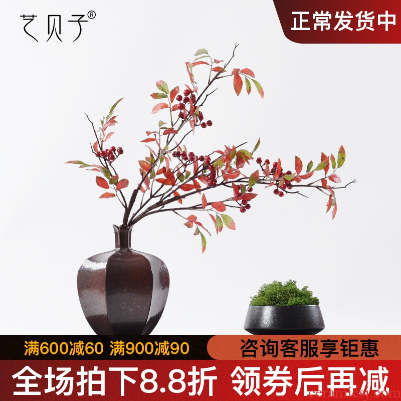 Simulation flower miniascape of the sitting room porch ceramic household designers green plant furnishing articles new Chinese zen soft decoration