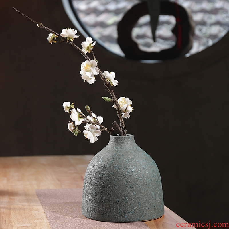 Do old coarse pottery vases, dried flowers, sitting room of new Chinese zen ceramic flower POTS in living in adornment table furnishing articles