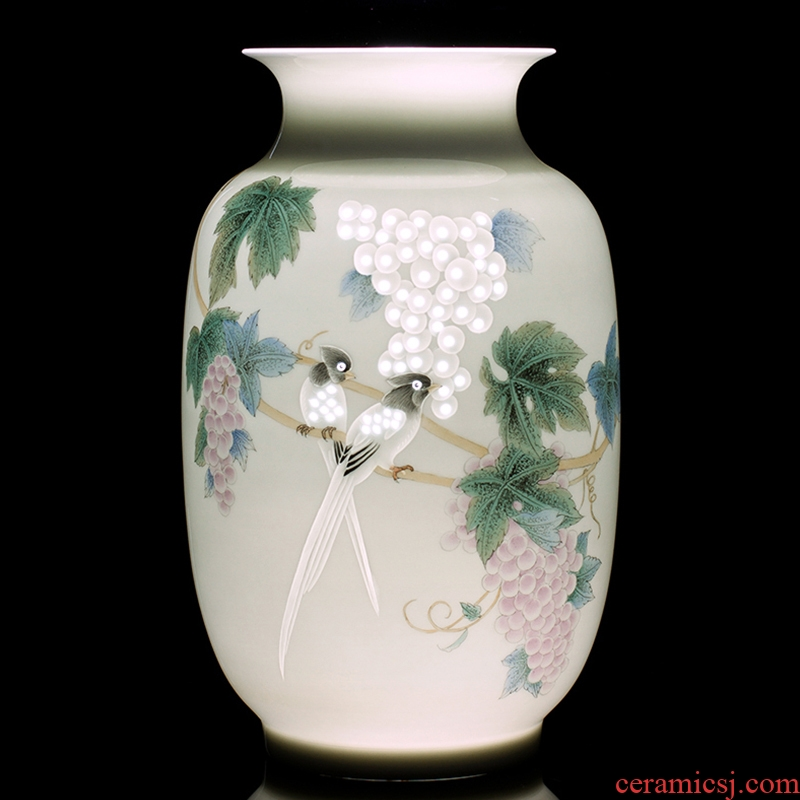 Jingdezhen ceramics furnishing articles hand - made vases, flower arranging fruit fragrance of new Chinese style household handicraft ornament