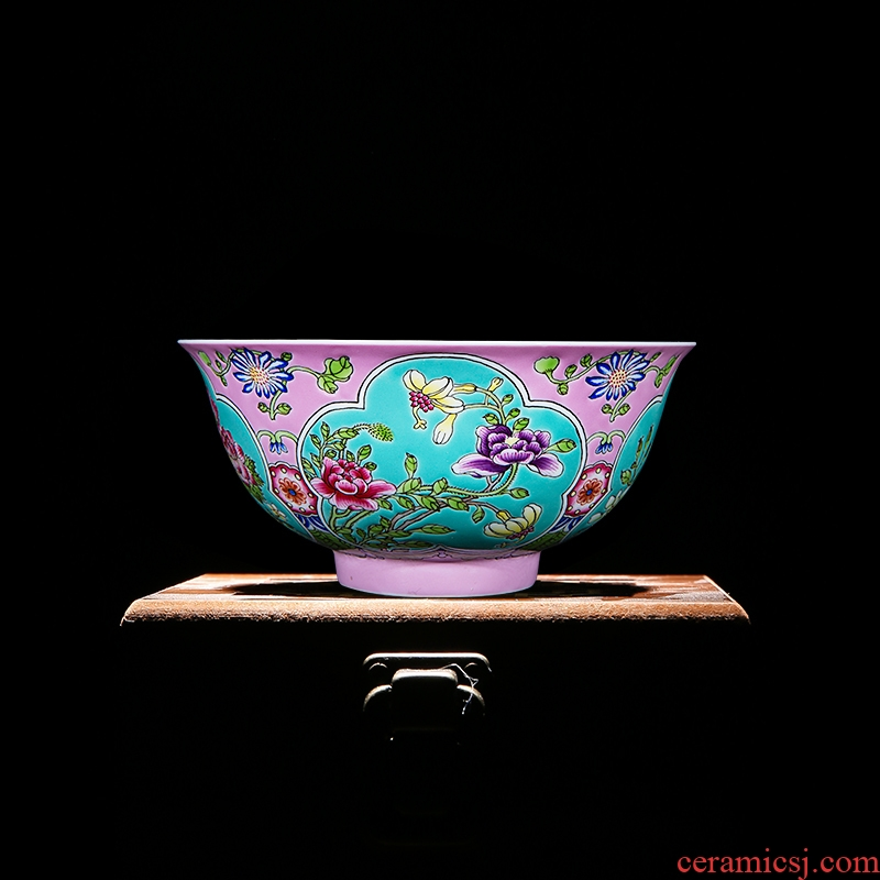 The Collection class with imitation sotheby's 's jingdezhen up the system of the reign of emperor kangxi pink colored enamel flower ceramic bowl tea sets