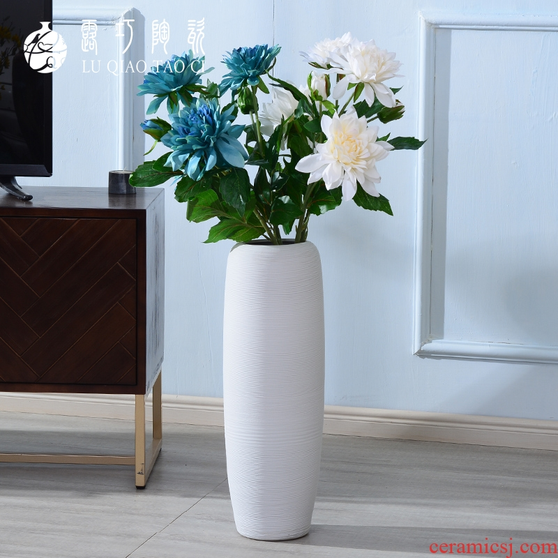 I and contracted ceramic white vase landing simulation suit furnishing articles dried flower arranging flowers large north European style living room