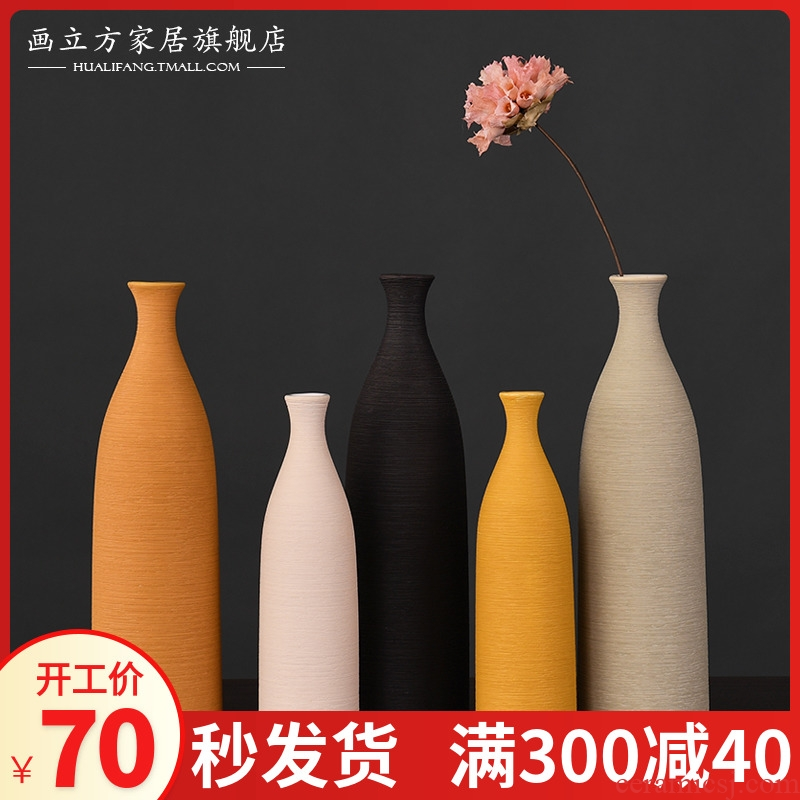 Nordic I and contracted, ceramic vases, furnishing articles, small pure and fresh and fashionable sitting room put creative floral version into gifts