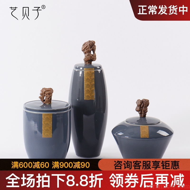 Art BeiZi metal glaze soft outfit ceramic pot of new Chinese style household act the role ofing is tasted window ambry soft outfit porch place