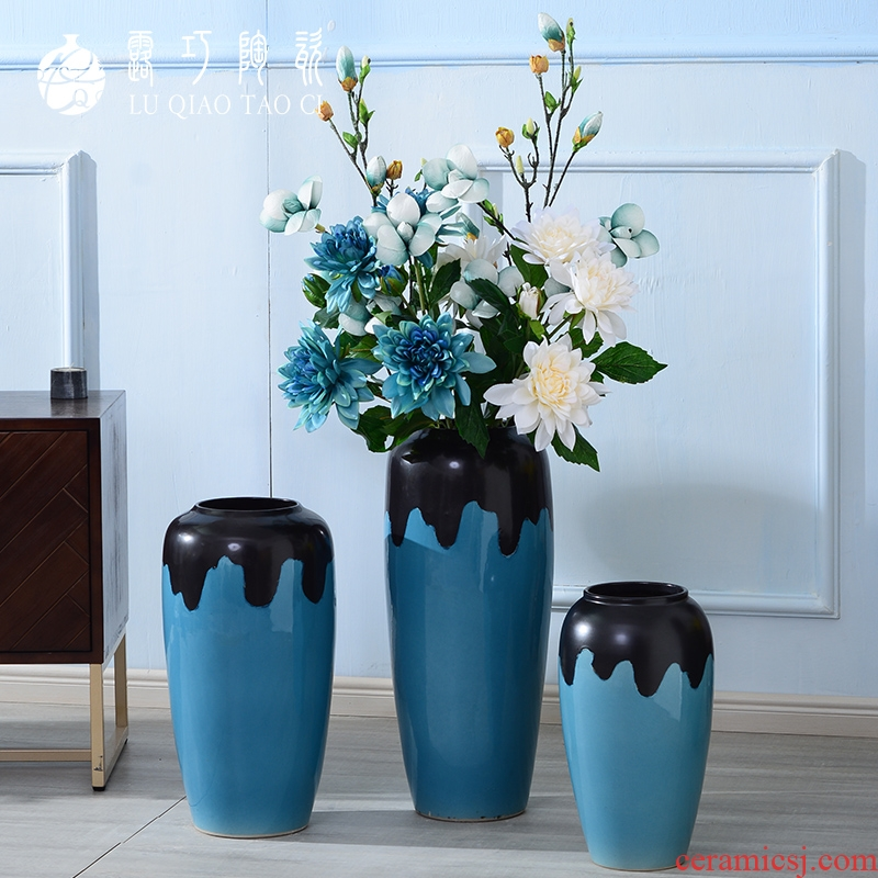 North European vase furnishing articles simulation of clever ideas sitting room ground dried flower arranging flowers decorated large POTS contracted