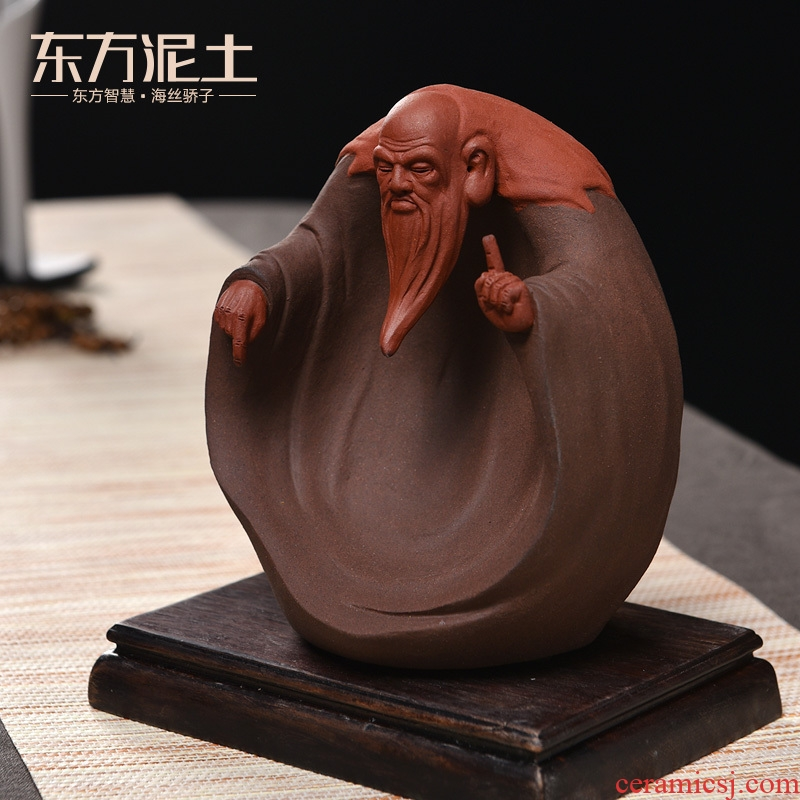 Oriental violet arenaceous soil Lao tze furnishing articles creative ceramic characters handicraft ark of desk study zen furnishing articles