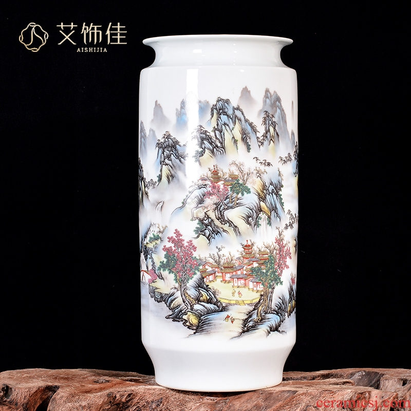 Chinese jingdezhen ceramics pastel landscape vase home rich ancient frame depending on the counter top sitting room adornment is placed