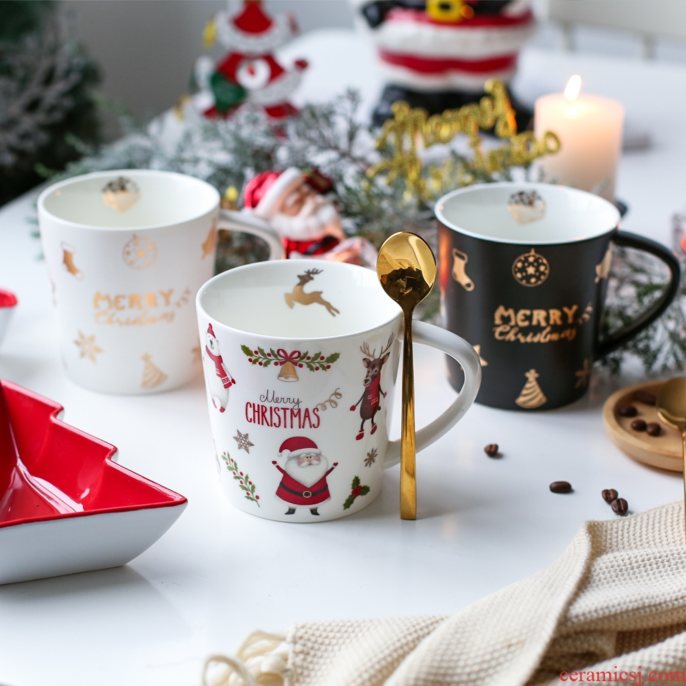 Sichuan island house for Christmas keller cup creative move trend mark coffee cup ceramic cup gift boxes