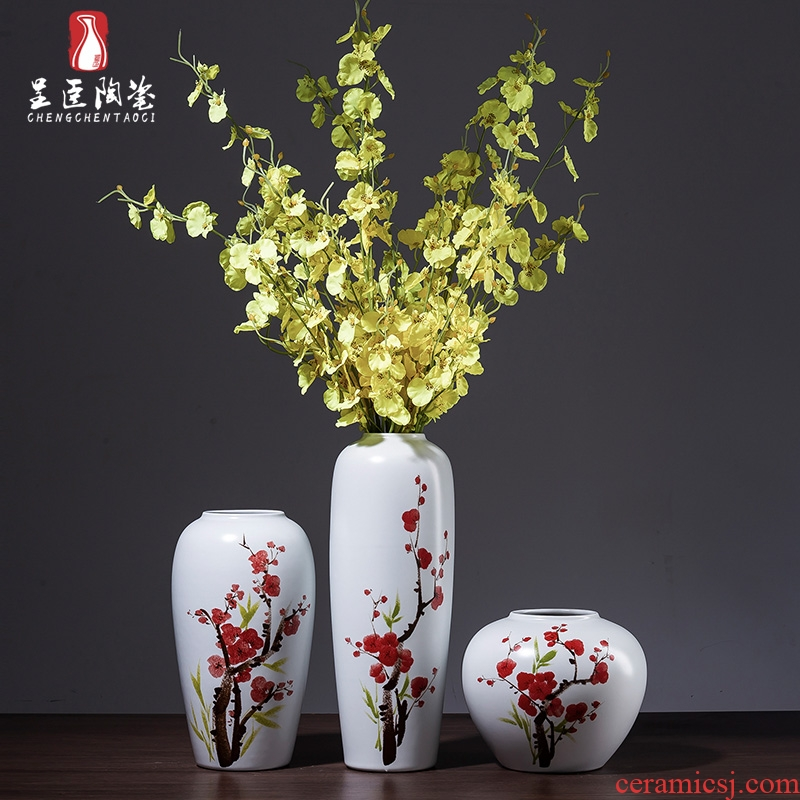 Jingdezhen ceramic vase furnishing articles sitting room bedroom office office table, tea table porch the white dried flower bottle