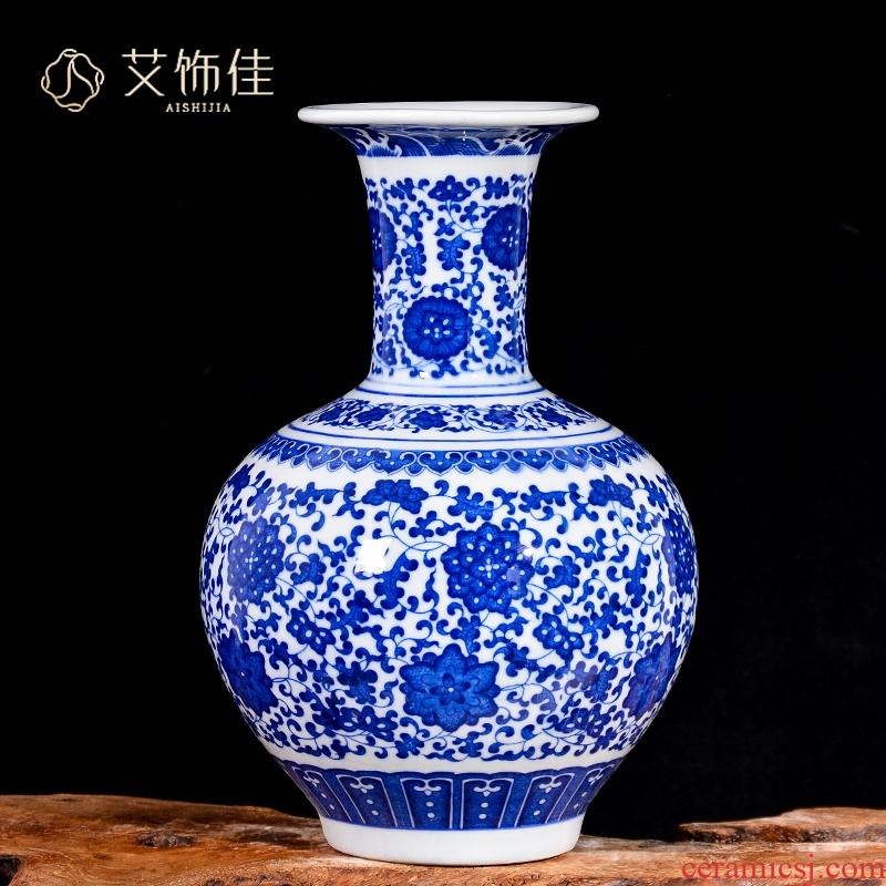 Antique Chinese blue and white porcelain vase of jingdezhen ceramics sitting room bedroom home decoration crafts are TV ark