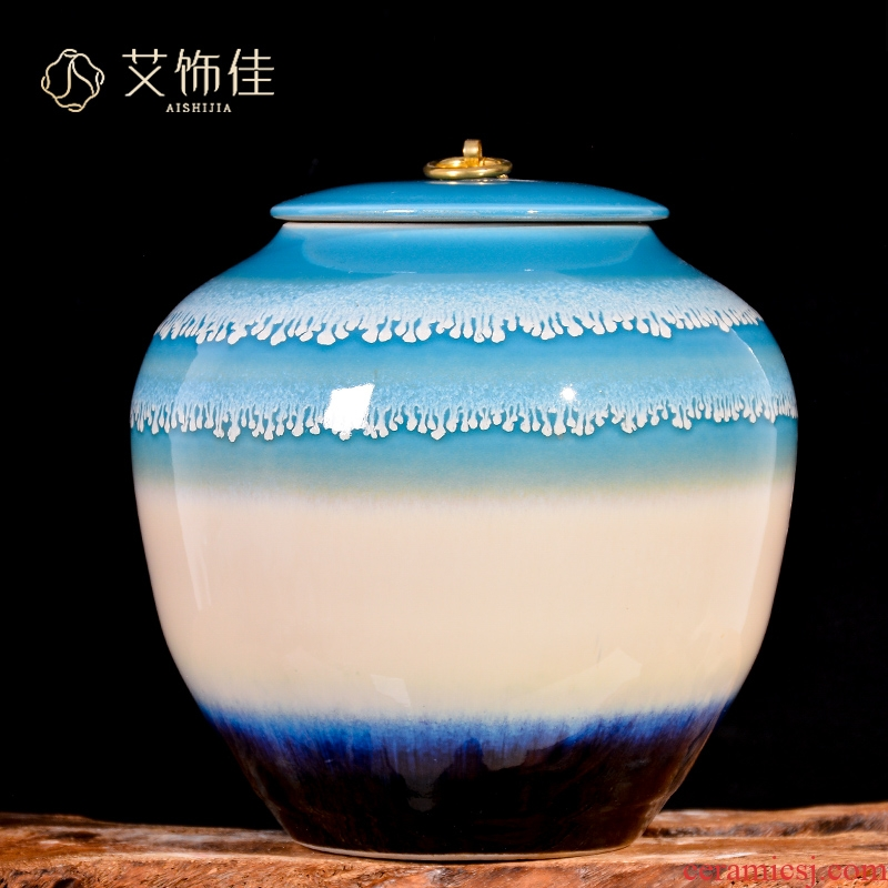 Jingdezhen ceramics tank storage tank up with general jar with cover caddy fixings home furnishing articles home decoration