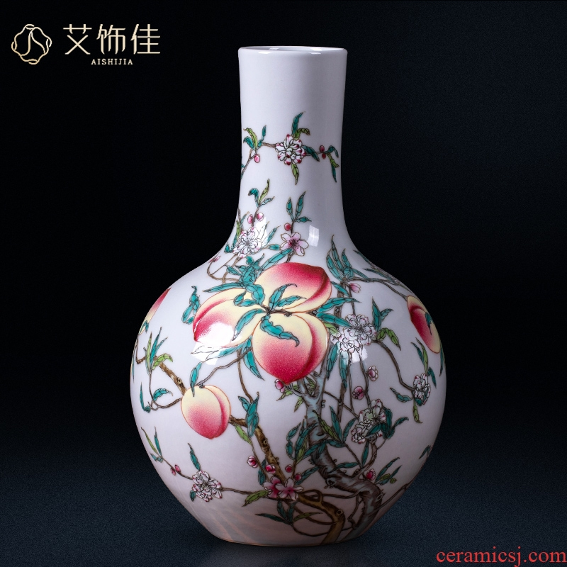 Jingdezhen ceramics, vases, flower arranging archaize sitting room of Chinese style living room home rich ancient frame adornment restoring ancient ways furnishing articles