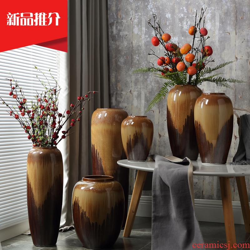 Jingdezhen Europe type restoring ancient ways of large vases, the sitting room porch hotel ceramic decorations of dry flower arranging furnishing articles