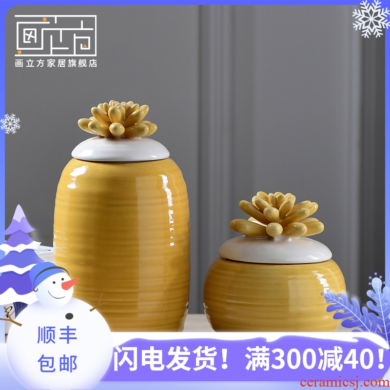 Cubic American contracted small pure and fresh POTS table vase creative home sitting room adornment furnishing articles during the Spring Festival