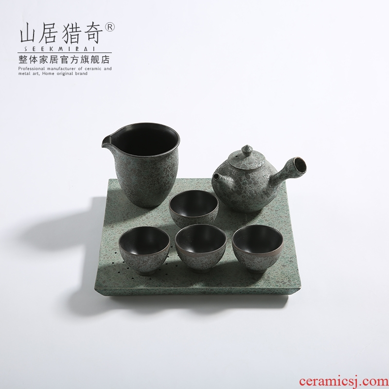 New Chinese style creative ceramic kung fu tea set gift home sitting room office to place the study field of a complete set of decorative furnishing articles