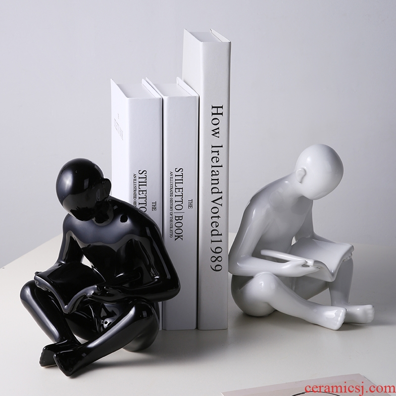 I and contracted to read this letter on ceramic art book clip study office desktop household adornment bookends furnishing articles