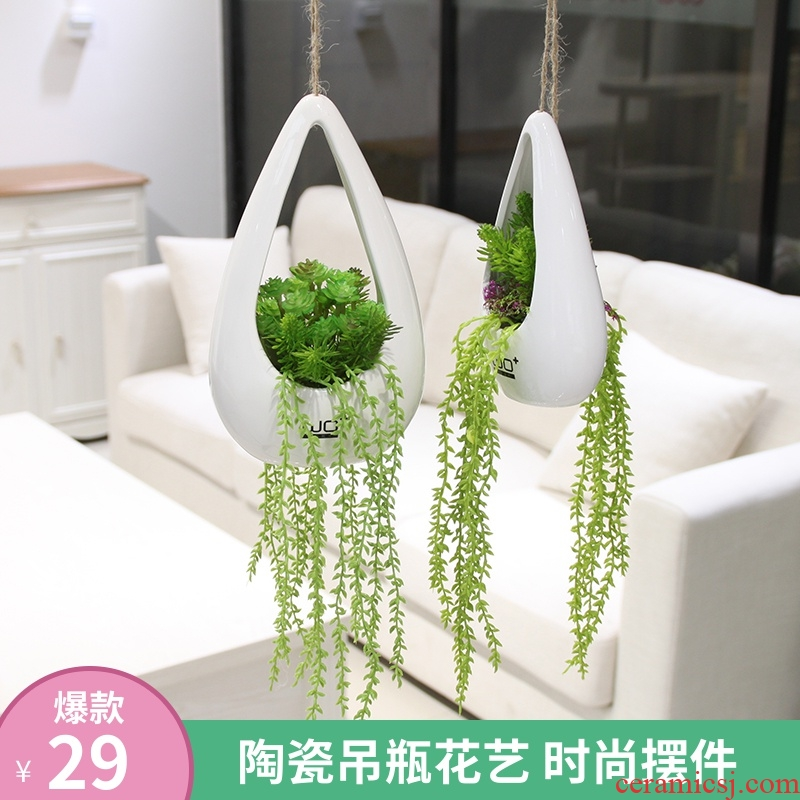The Send + simulation flowers all over the sky star with false ceramic infusion bag or bottle hanging basket flower POTS fashion floral suit to decorate flowers