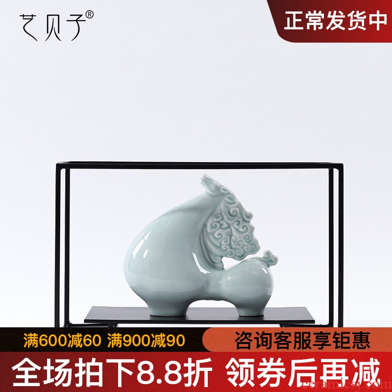 New Chinese style zen decorative furnishing articles creative I sitting room porch ark, home decoration ceramic office decoration