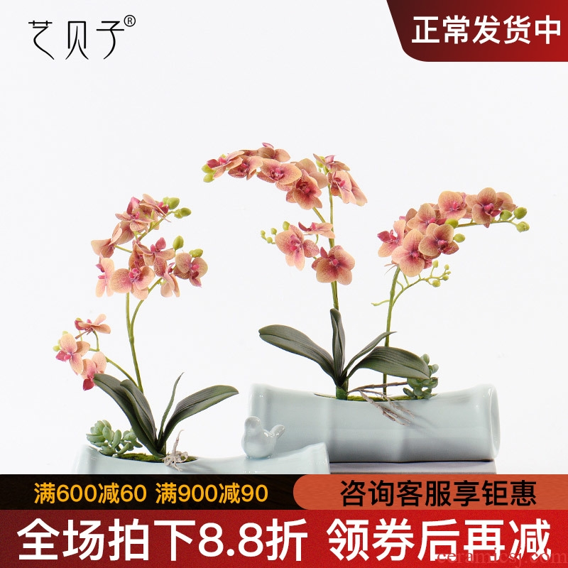 New Chinese style corrugated ceramic vases, flower art flower arranging soft furnishing articles sitting room dining - room TV ark, example room decoration