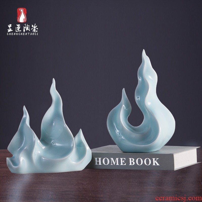 Ceramic home furnishing articles bedroom decoration room decoration wine move study indoor small place, the desktop on the table