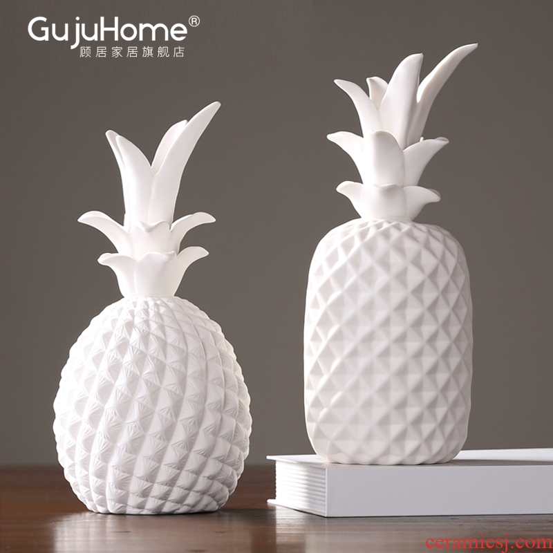 I and contracted between ceramic pineapple furnishing articles home sitting room dining - room example clothing store decoration decoration restaurant