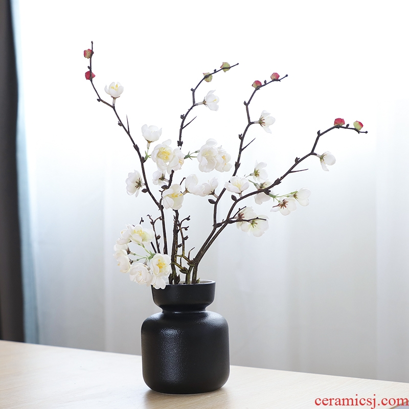 Nan sheng household act the role ofing is tasted simulation flowers, dried flowers, artificial flowers, ceramic vases, I and contracted ins wind mesa place adorn article