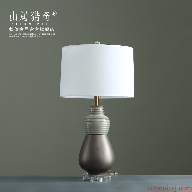 Modern European household act the role ofing is tasted creative ceramic pot table between living room a study example decorate desk lamp furnishing articles