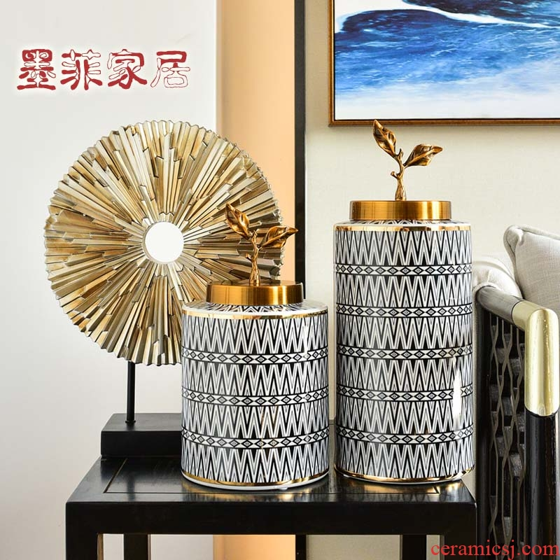 American creative furnishing articles household ceramic vases, modern light key-2 luxury decorations sitting room porch decoration wine TV ark