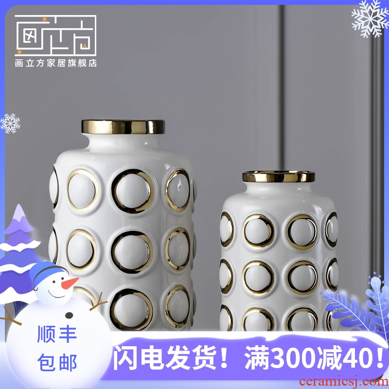 Picture cubic Chinese black and white contracted ceramic furnishing articles modern decoration ideas between sitting room adornment study example