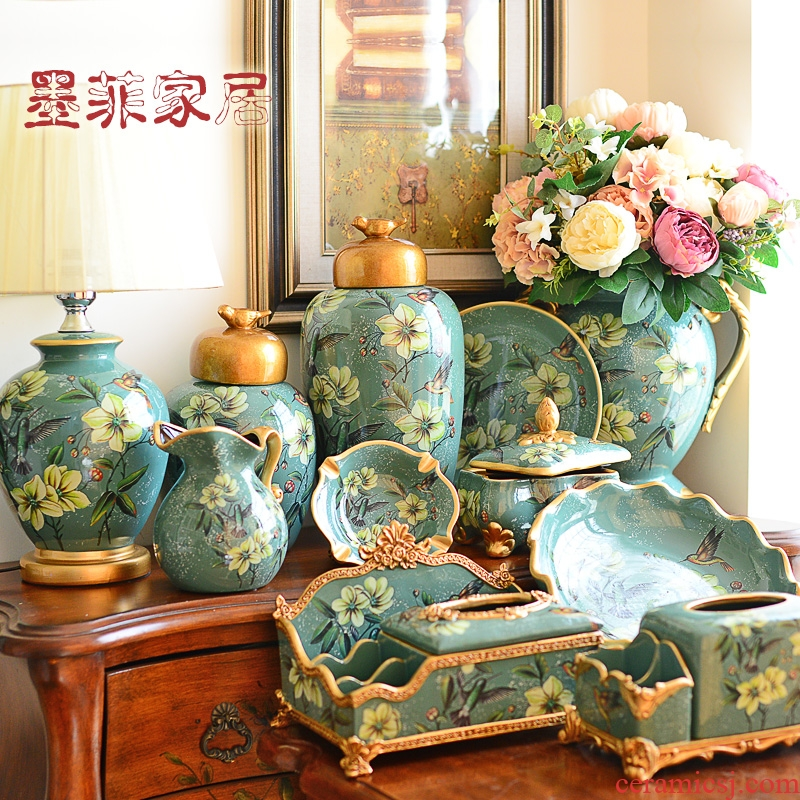 European ceramic household act the role ofing is tasted room decoration American TV ark, wine sitting room porch decoration furnishing articles