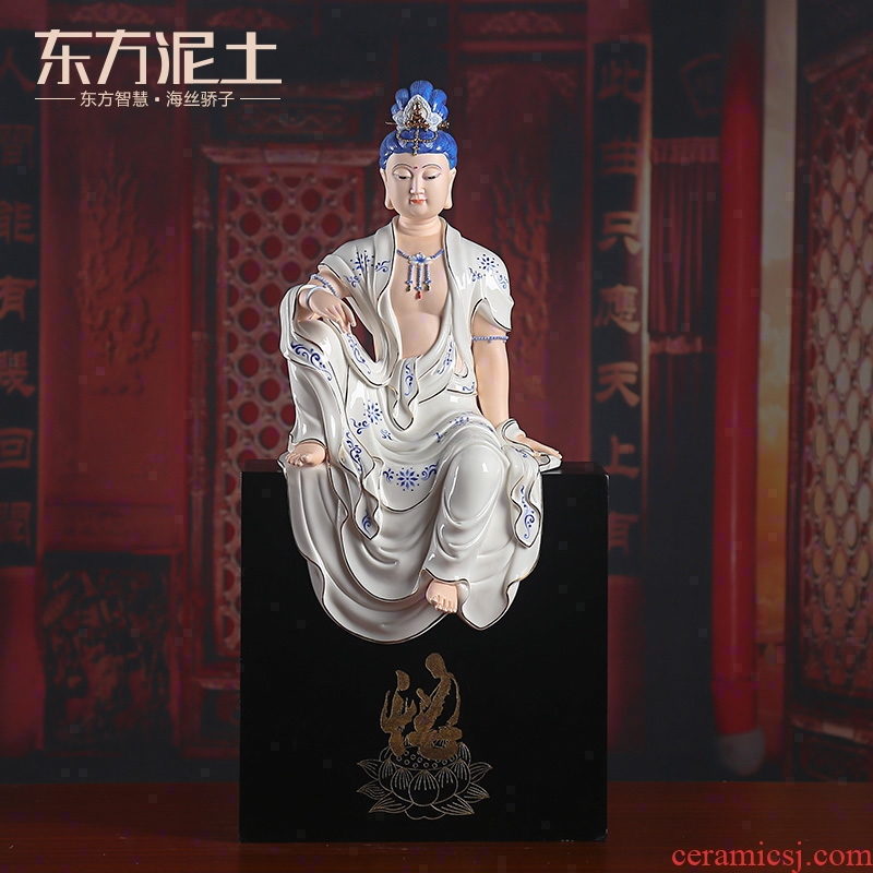 Oriental clay ceramic avalokitesvara home sitting room porch place/comfortable guanyin Buddha arts and crafts