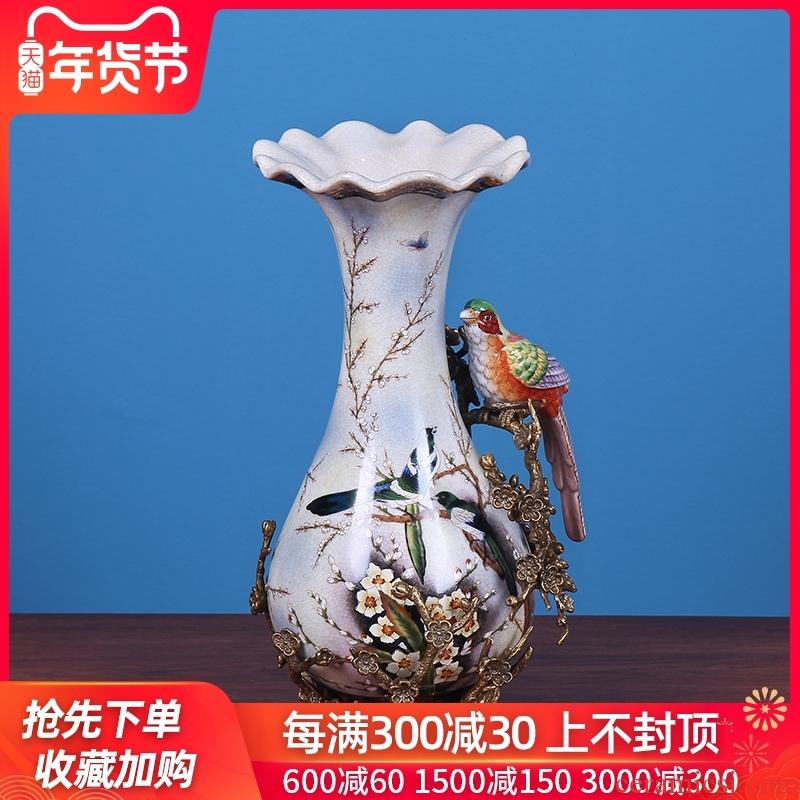 European ceramic vase furnishing articles creative American TV ark, example room sitting room dry flower arranging flowers adornment ornament