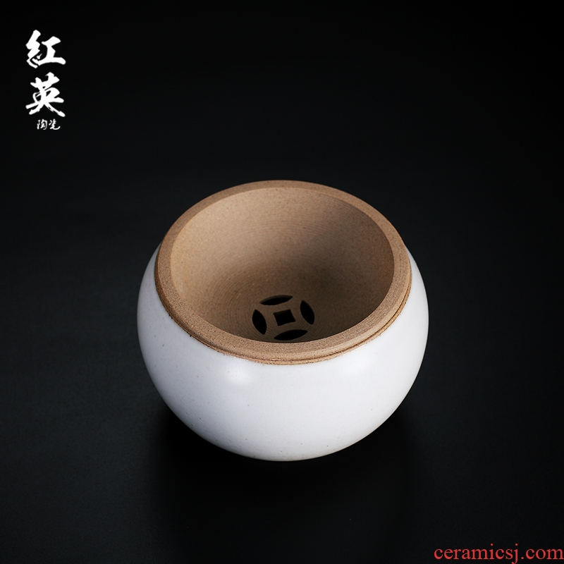 Red the jingdezhen ceramic coarse TaoJianShui kung fu tea tea accessories filter in hot water, after the wash tea slag bucket