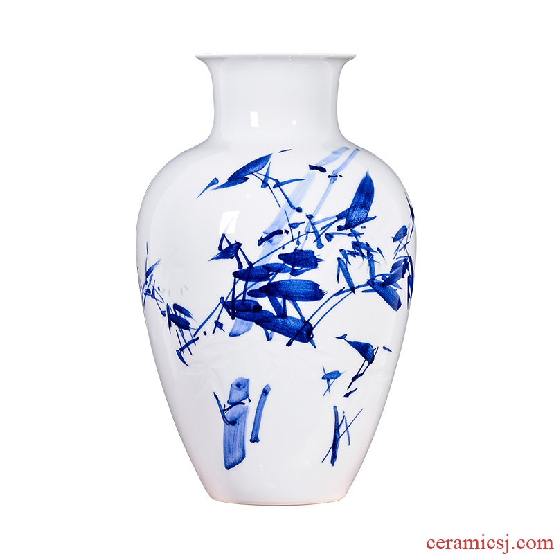 Jingdezhen ceramic knife clay famous TV ark, antique hand - made vases, flower arranging Chinese hall decoration furnishing articles