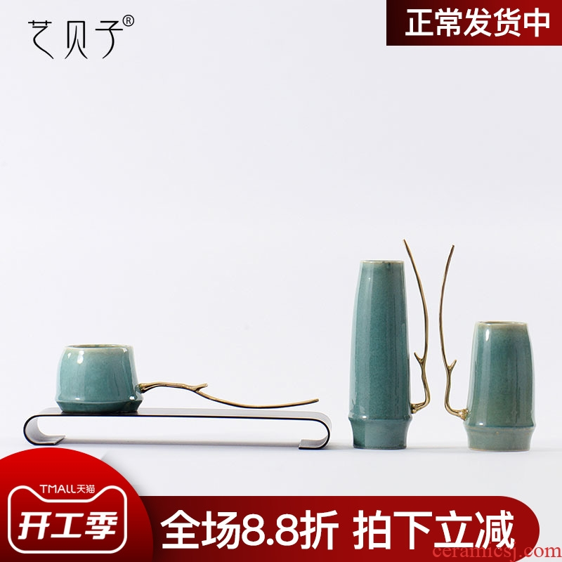 Art BeiZi new Chinese style living room home furnishing articles ceramic vases, flower implement home TV ark, teahouse soft adornment