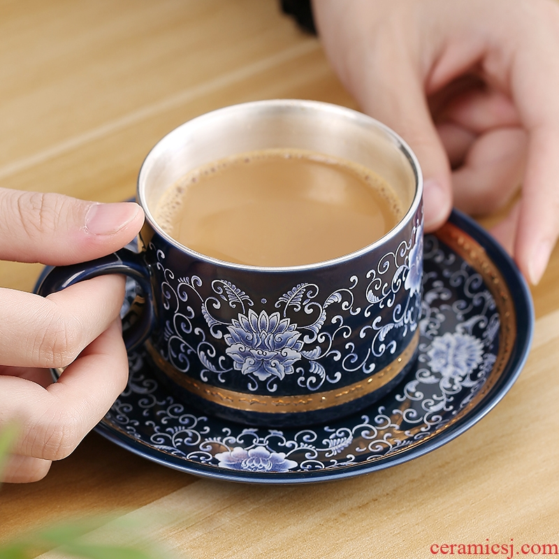 Jingdezhen places coffee cup sets of household ceramic ipads China coffee cups with disc type mugs and contracted