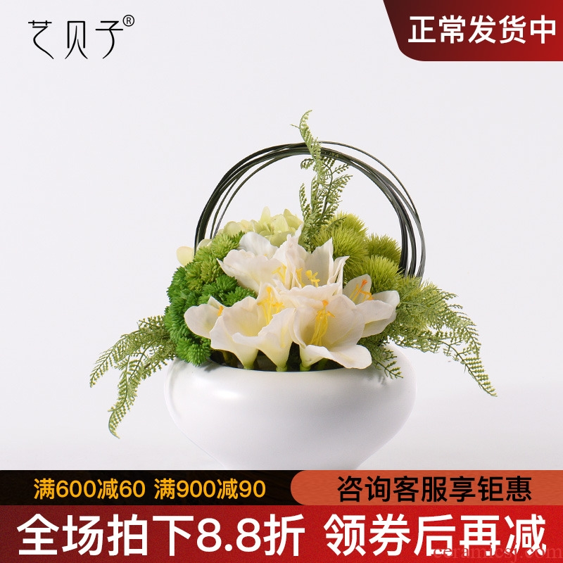 I and contracted callas dried flower simulation flowers, ceramic vases, flower hotel mock up room sitting room false furnishing articles