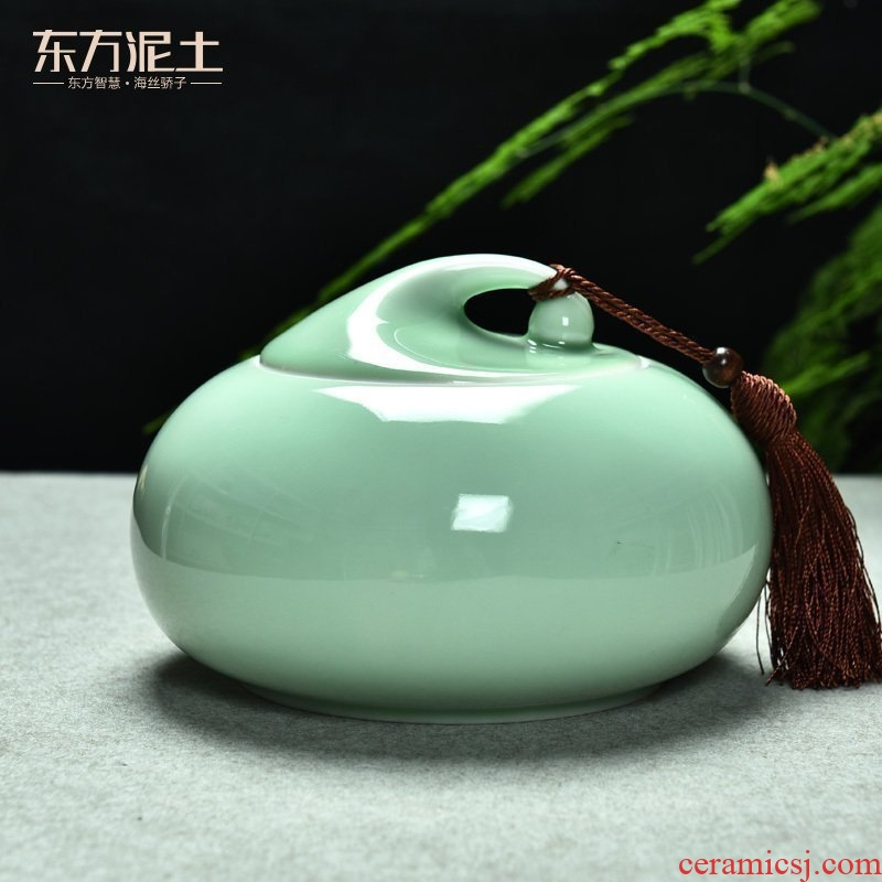 The east mud tanks creative small tea table office furnishing articles desktop celadon ceramic sitting room adornment handicraft