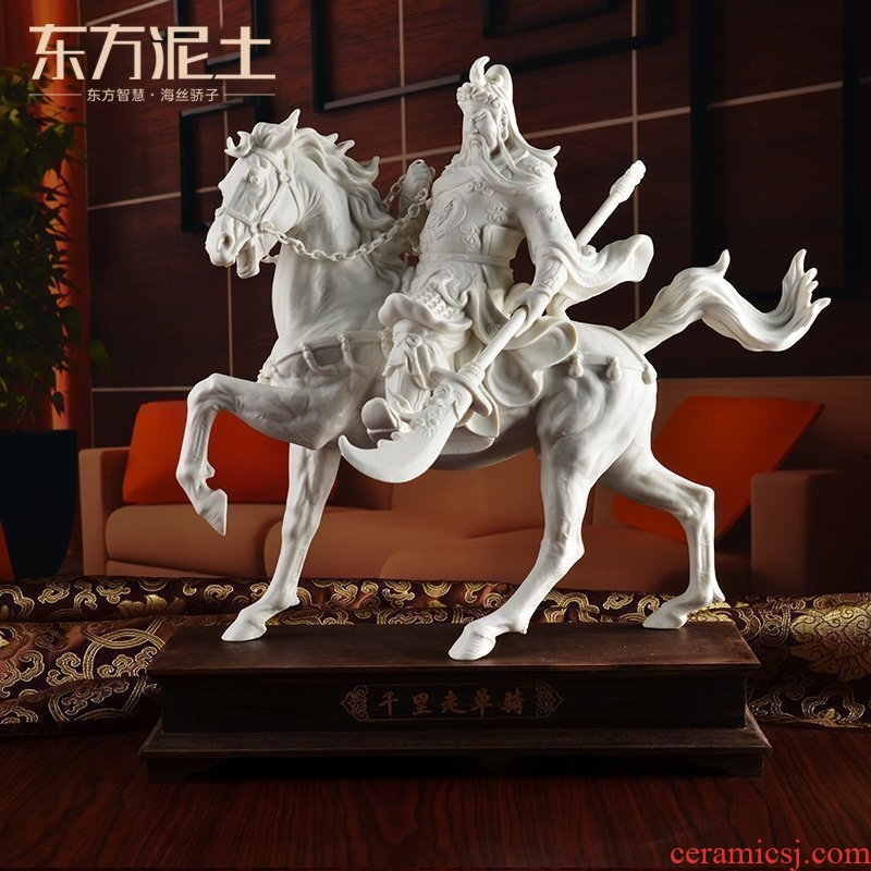 The east mud dehua white porcelain horse furnishing articles rich ancient frame its art creative office/li for performers