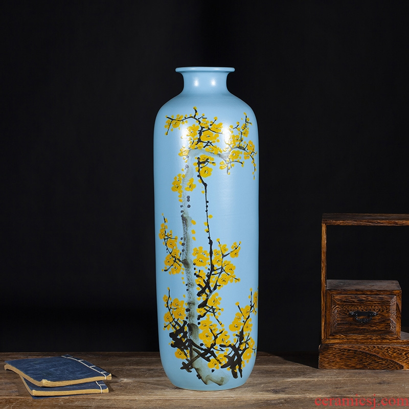 Jingdezhen ceramics modern new Chinese style of large vases, hand - made dried flowers, flower arrangement, the sitting room TV ark, furnishing articles