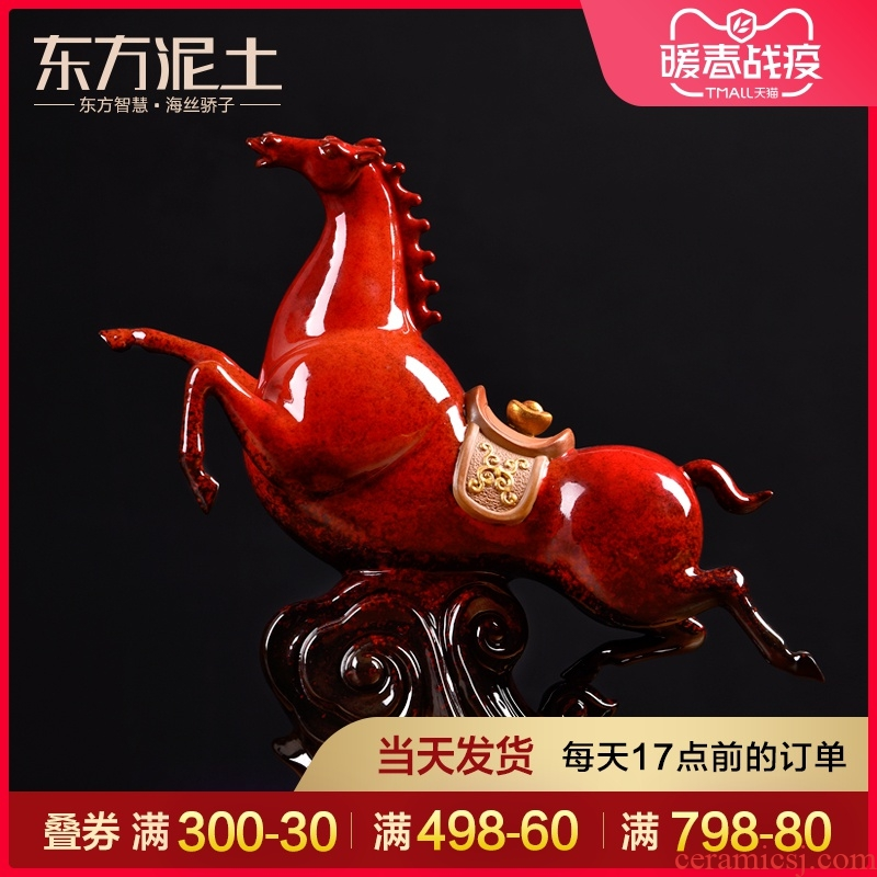 Oriental clay ceramic horse horse furnishing articles office desktop decoration business gifts/success