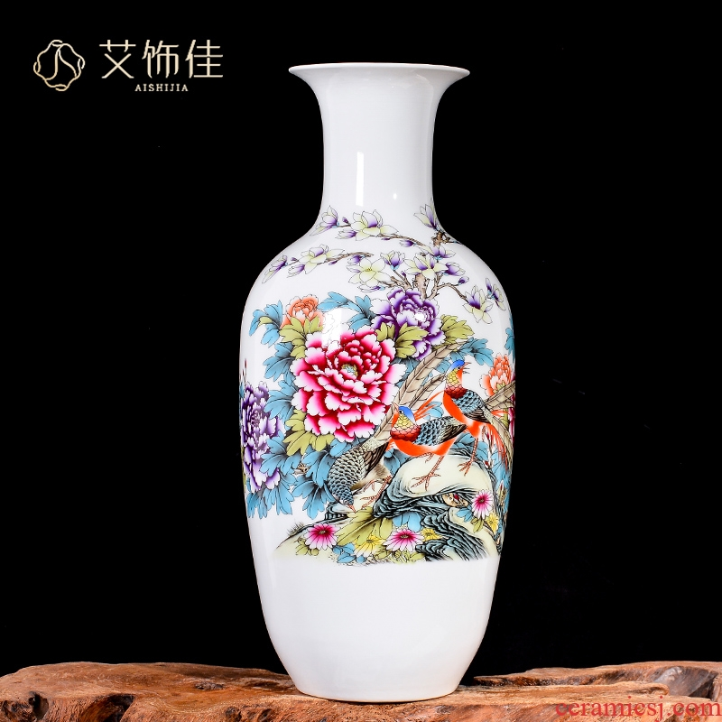 Jingdezhen ceramics powder enamel vase large TV ark, decoration of new Chinese style household, the sitting room porch decorate furnishing articles