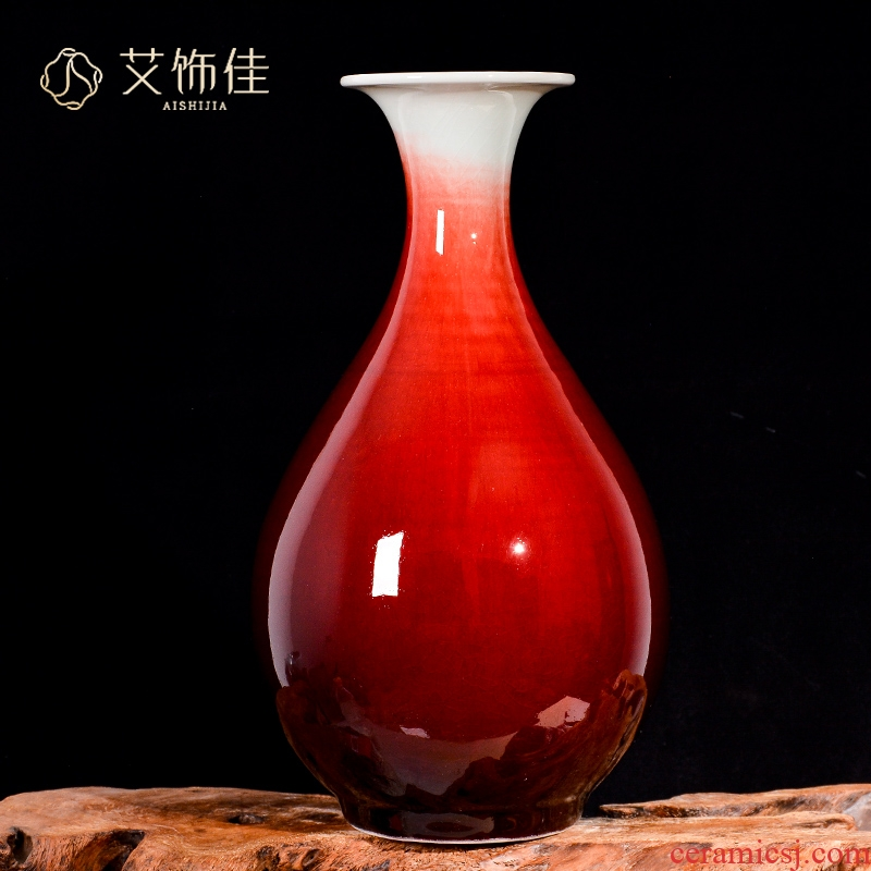 Archaize of jingdezhen ceramic up vase TV ark, rich ancient frame sitting room of Chinese style household adornment handicraft furnishing articles