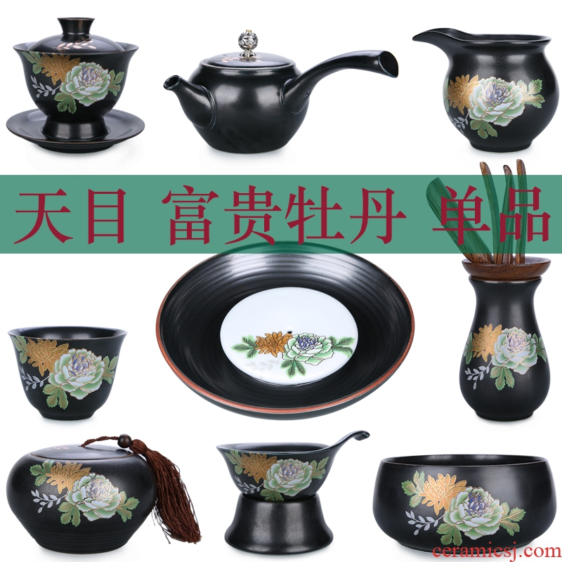 China Qian manual paint set mine loader 999 sterling silver tureen kung fu tea set large blue and white porcelain ceramic cups sample tea cup
