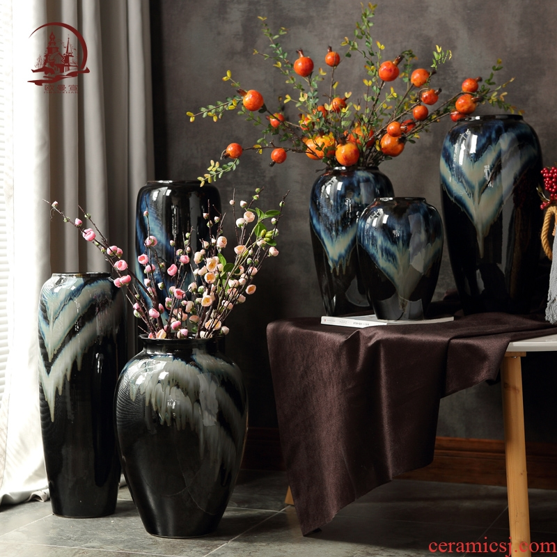 Jingdezhen European large vases, I and contracted sitting room TV ark, household flower arranging, creative ceramic furnishing articles